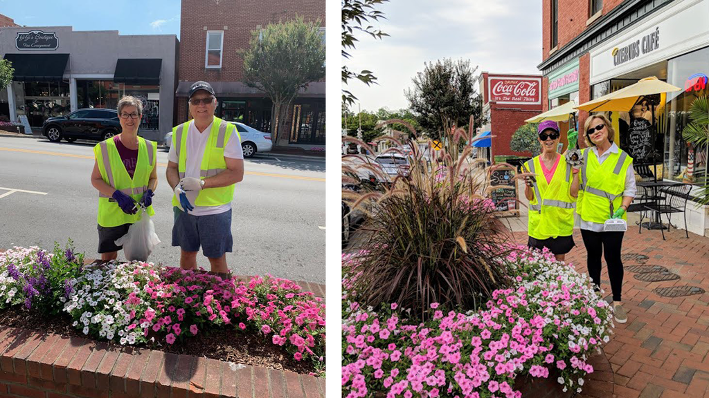 Keep Belmont Beautiful Volunteers Help Beautify Downtown