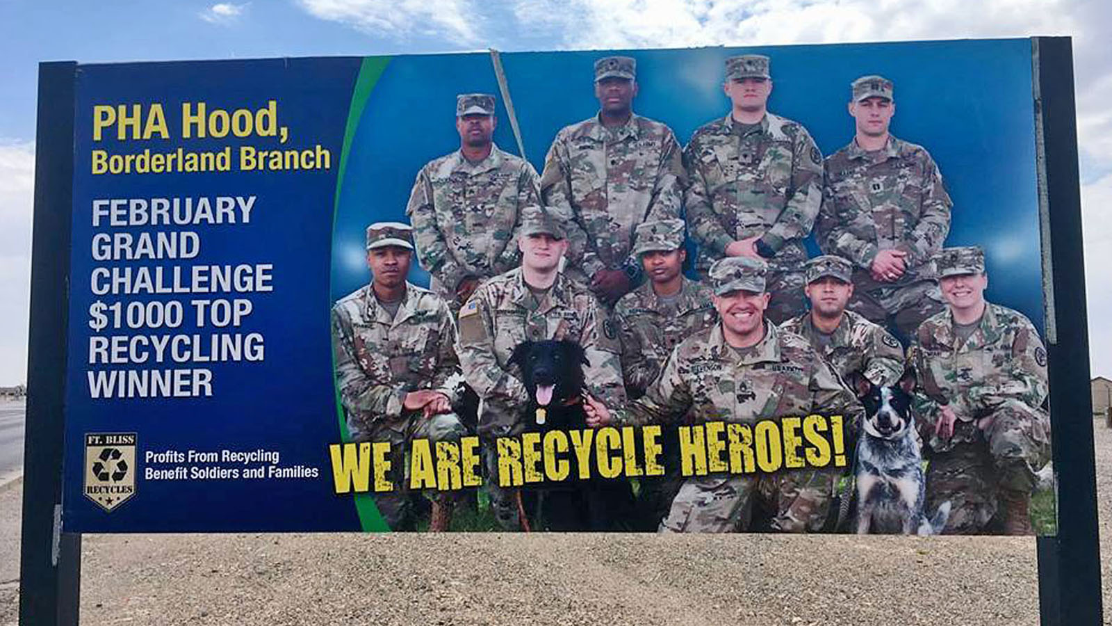 Fort Bliss Recycling Hero Awarded America Recycles Day Award On Veteran's Day; Fort Bliss to Reach Net Zero Waste by 2020