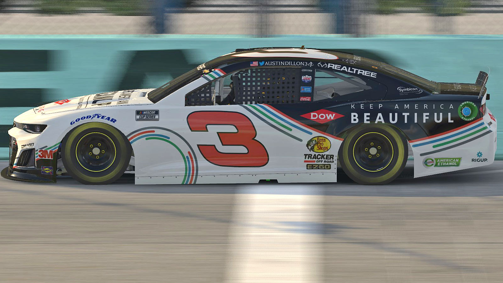 Austin Dillon Supports Keep America Beautiful by Driving In eNASCAR iRacing Pro Invitational Series