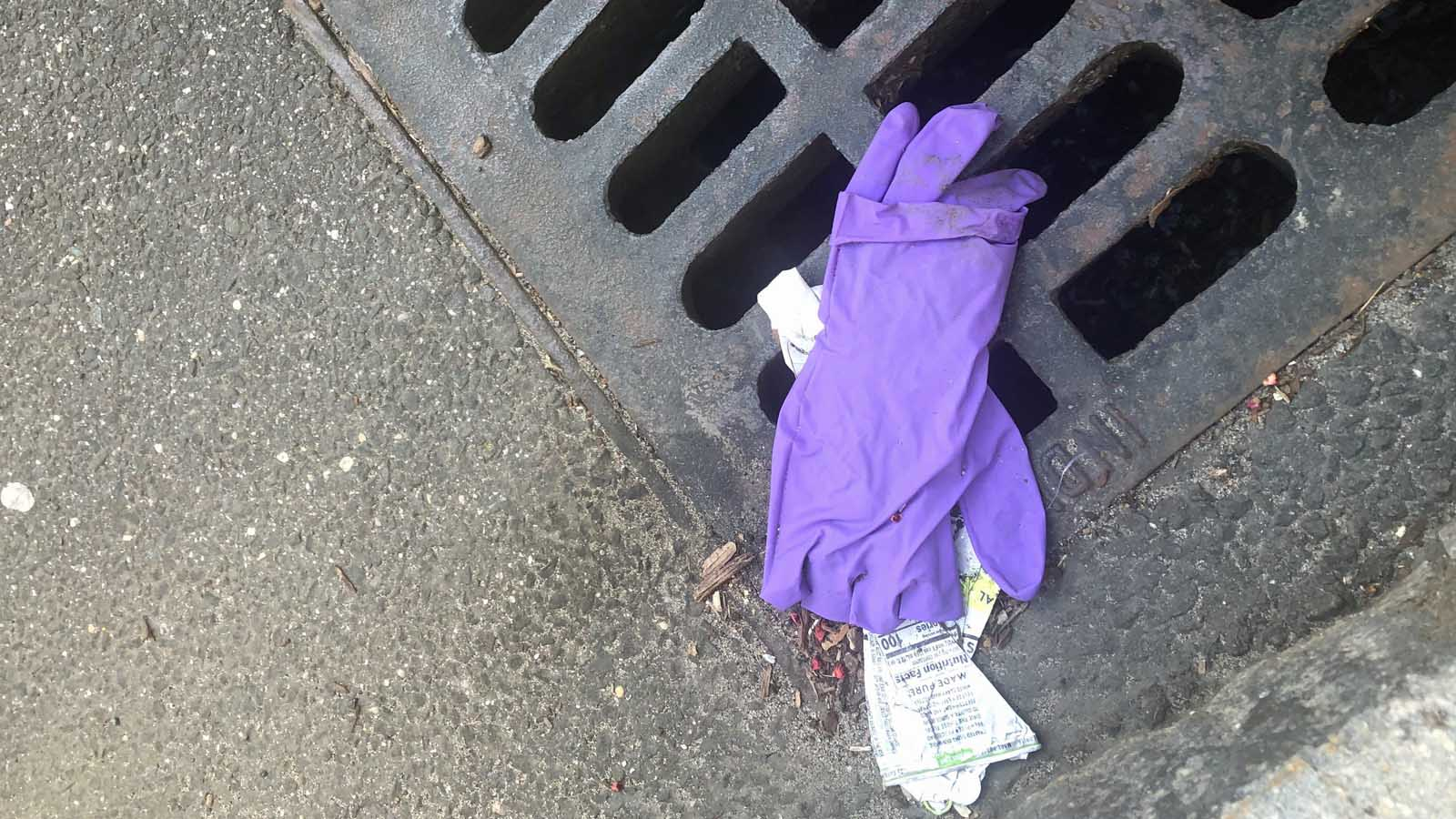 Keep America Beautiful: Watch Where You Toss Used Wipes and Gloves!