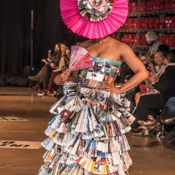 Memphis City Beautiful's Curb Couture Trashion Show 2019 – Dress Made of Recycled/Repurposed Magazines