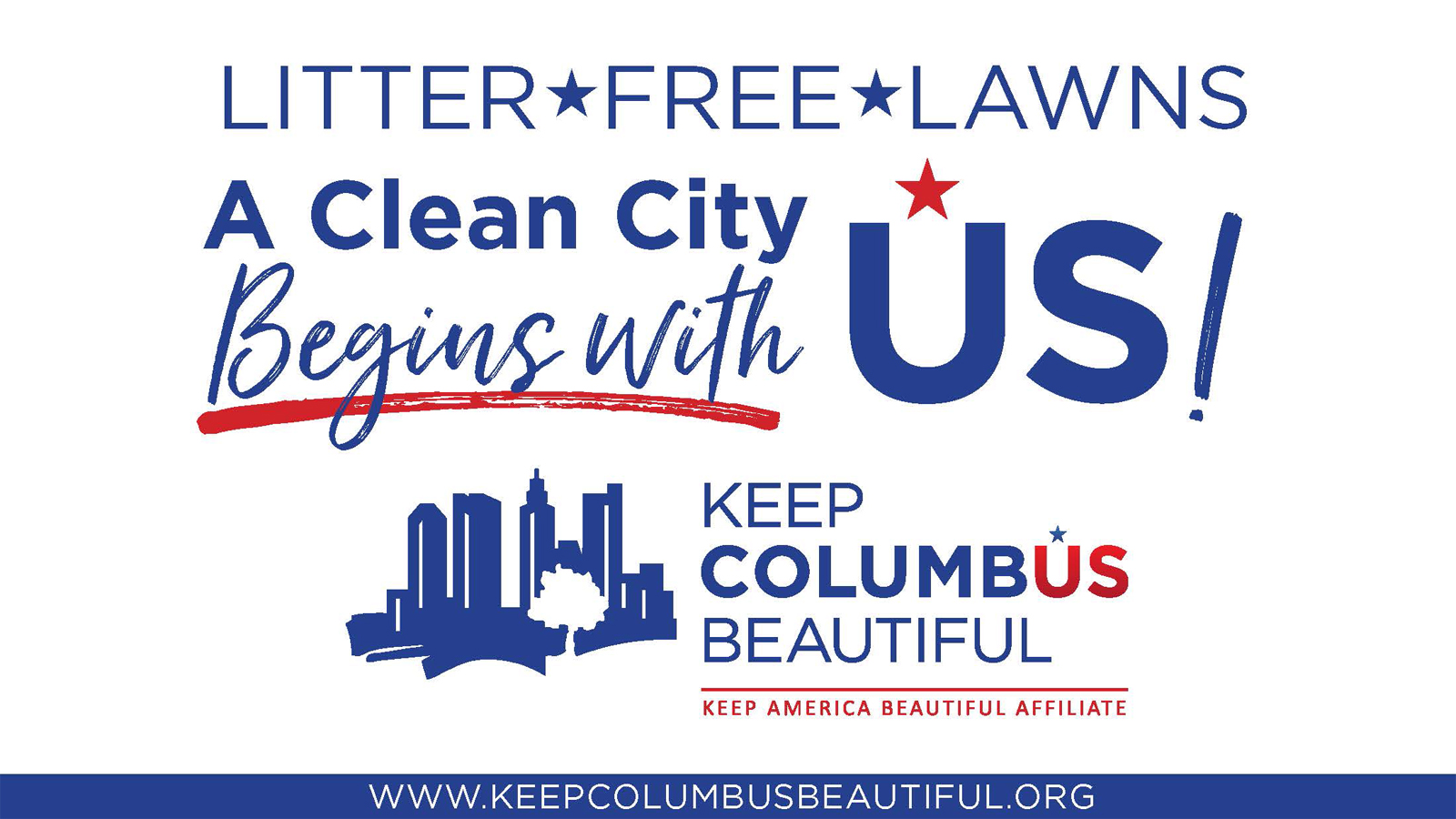 Keep Columbus Beautiful Campaign Promotes Clean Lawns