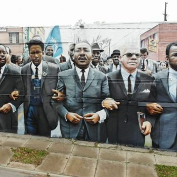 New Flint mural pays homage to civil rights icons Martin Luther King Jr. and John Lewis